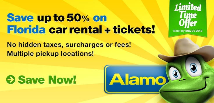 Save up to 50 on Florida car rentals + tickets! Your
