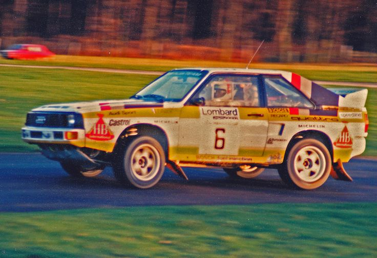 Michele Mouton in an Audi Sport Quattro very early in the morning on the Knowlsley Park stage on the 1984 RAC Rally.