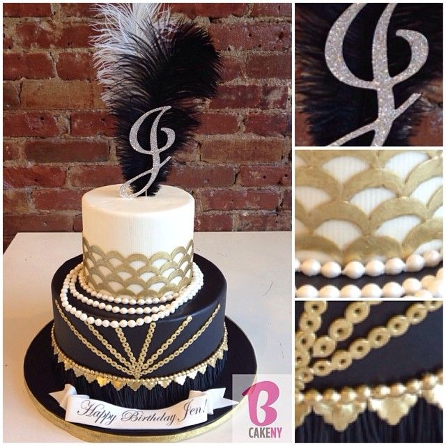 Gatsby themed Birthday Cake