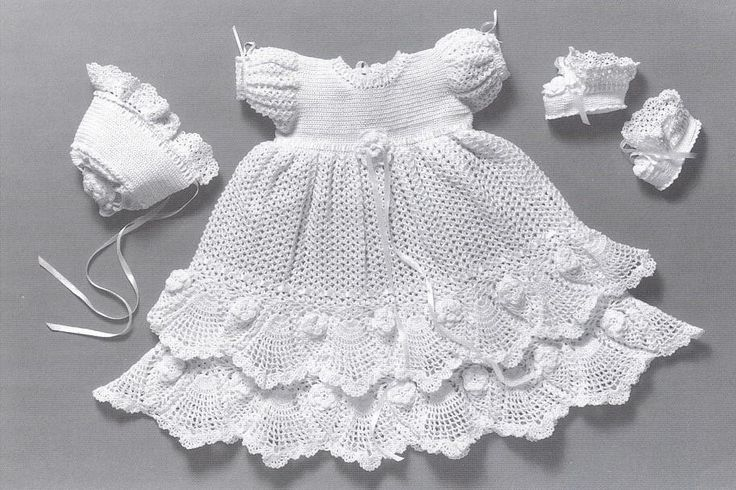CROCHET PATTERN Christening  Gown Outfit - Baby dress blanket and booties pdf by Delsie Rhoades. $7.95, via Etsy.