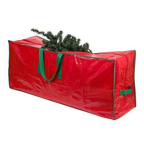 Christmas Tree Storage Bag Extra Large Heavy Duty Zipper Handles Durable Red New Christmastreestoragebag