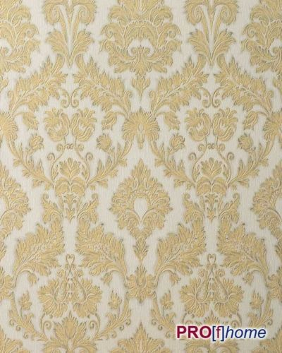 EDEM 708-30 wallpaper heavywegiht ebossed baroque damask champagner-white gold