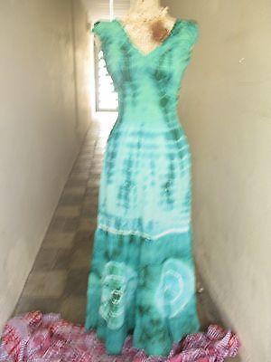Kleid Sommerkleid Batik Free Hippie goa ethno nepal Maxi Lang Festival Bunt