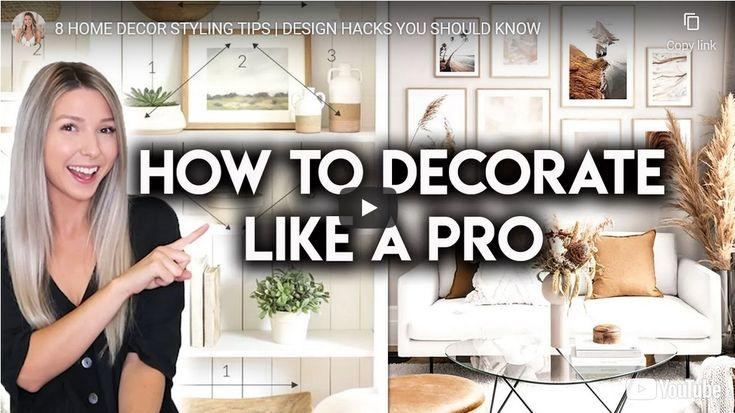 8 Home Decor Styling Tips And Design Hacks In 2021 Design Hack Interior Design Basics Modern White Living Room