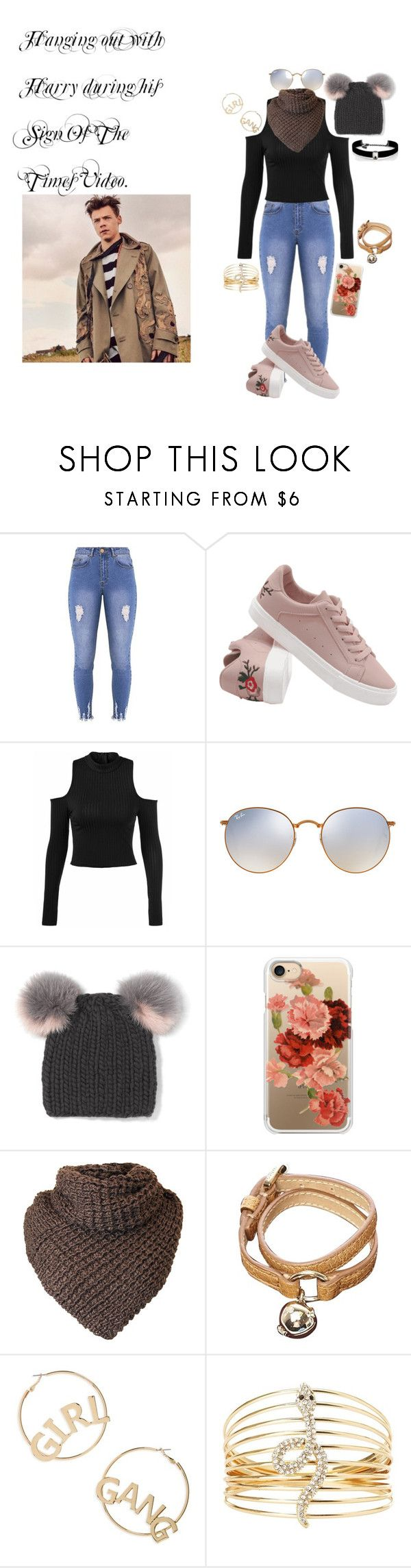 """""""Hanging Out with Harry during his Sign Of The Times Video."""" by emmalea21 ❤ liked on Polyvore featuring Lipsy, Ray-Ban, Eugenia Kim, Casetify, Mulberry, BP., Charlotte Russe and Kenneth Jay Lane"""