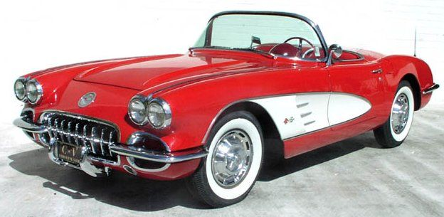 Little Red Corvette - '59 corvette red...Brought to you by #House of #Insurance in #EugeneOregon