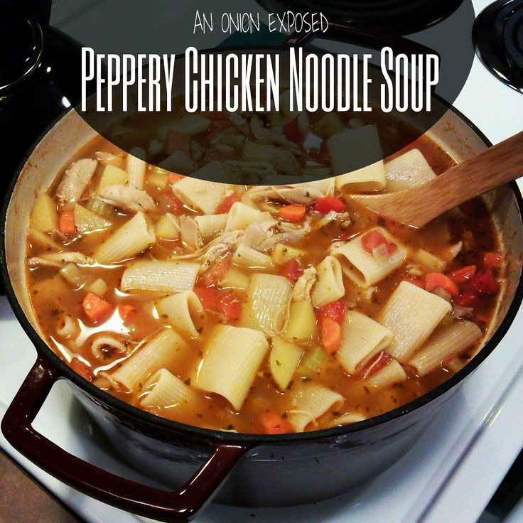 Peppery Chicken Noodle Soup {An Onion Exposed}