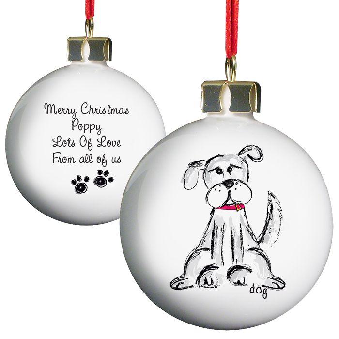 Personalised Dog Christmas Bauble