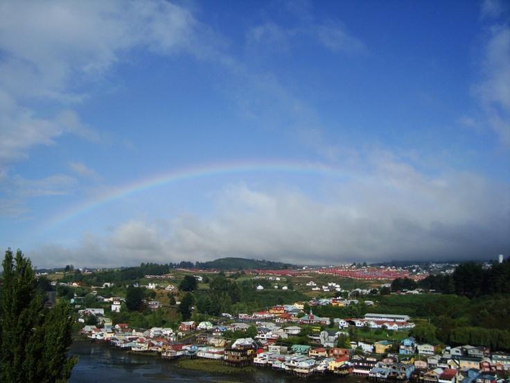 Palafito #Chiloé Rainbow