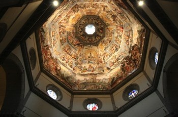 I climbed the 463 steps to the top of Brunelleschi's dome. It was worth it! Florence, Italy