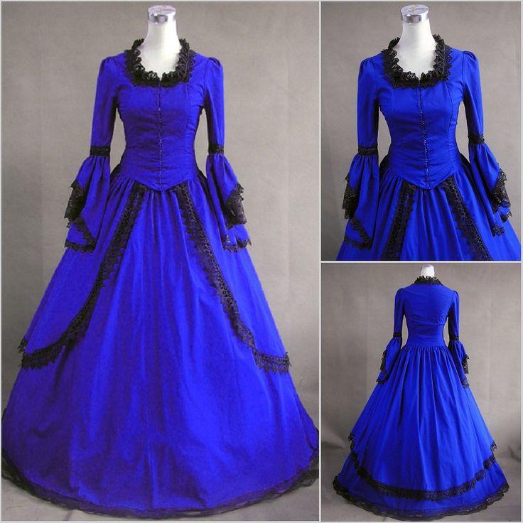 Vintage Gothic Lolita dress/ victorian cosplay costumes / Civil War Ball Gown