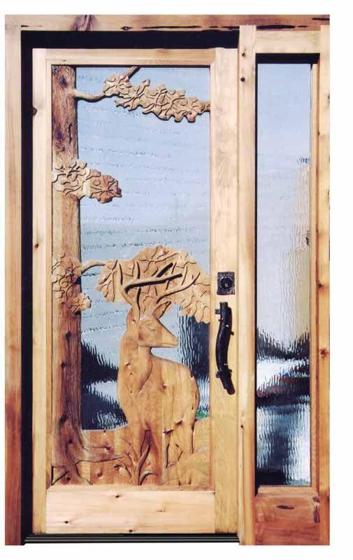 Carved Doors Wilderness Deer Design Cd5689 Eye