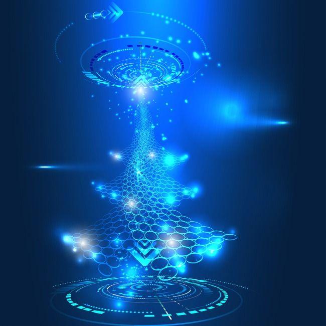Science Blue Light Effect, Science Clipart, Light Effect