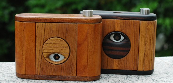 If you're shooting #lenseless, why not go overboard with the styling of your #pinhole camera. Awesome! #Obscura