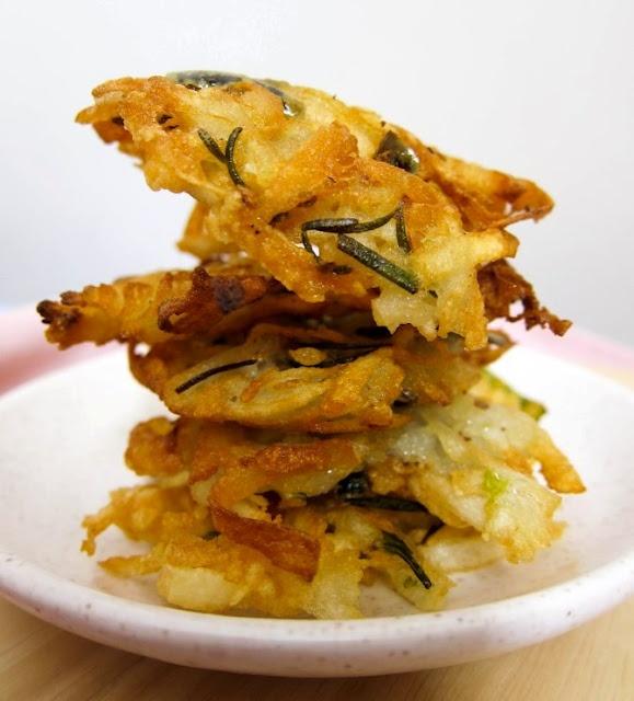 jalapeno rosemary potato fritters - vegan and gluten free