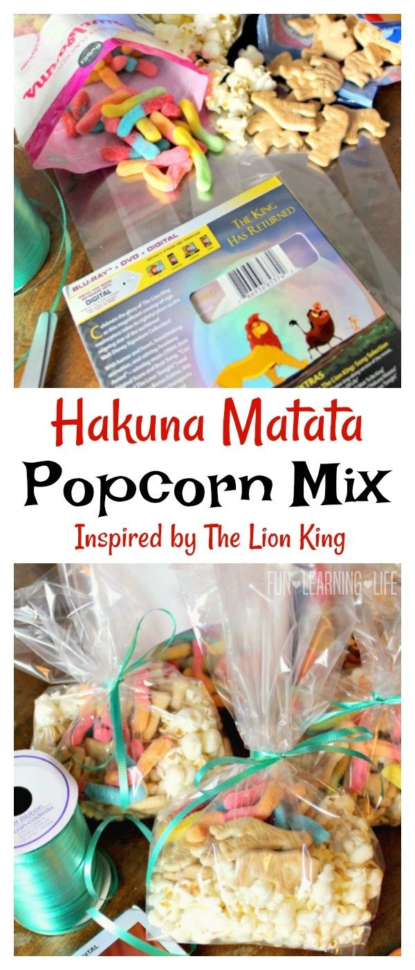 The Lion King Blu-ray Hakuna Matata Popcorn Mix and Activity Pages! (Sponsored)