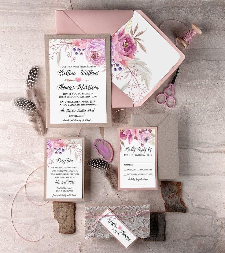 Subtle pink invites