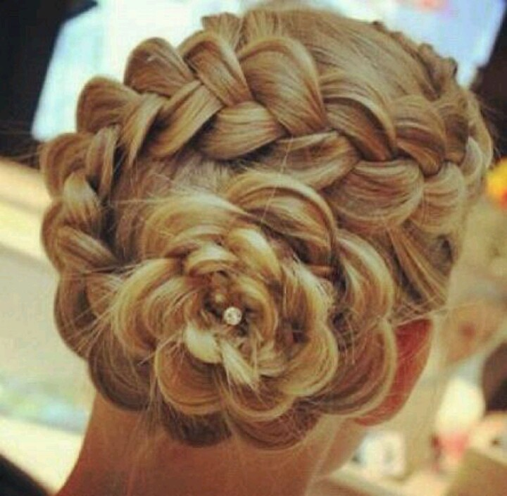Rose Braid Hair Hair Styles Hair Makeup