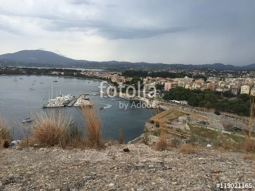 """Download the royalty-free photo """"Kerkyra town, island of Corfu, Greece """" created by Ciaobucarest at the lowest price on Fotolia.com. Browse our cheap image bank online to find the perfect stock photo for your marketing projects!"""
