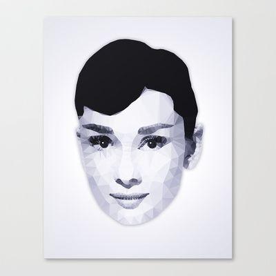 Audrey Hepburn | Polygonal Art Stretched Canvas by Mirek Kodes - $85.00