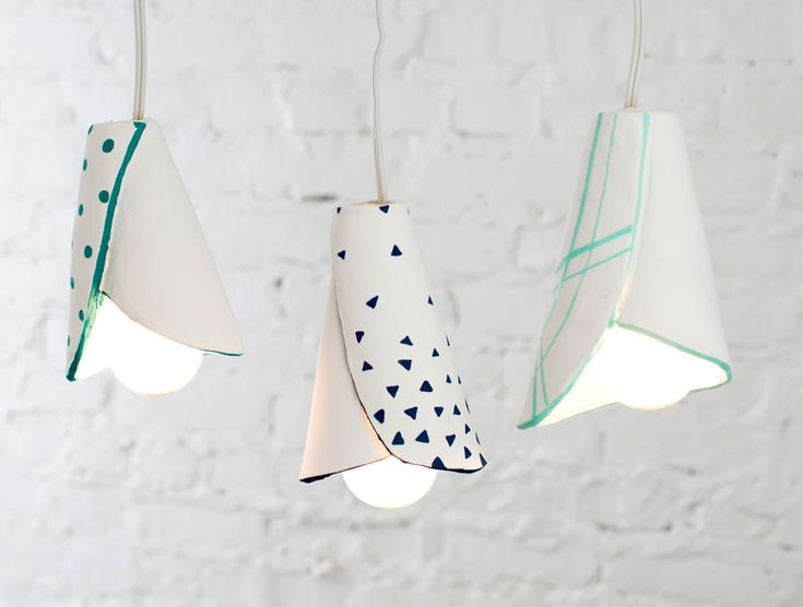 DIY: clay pendant lamp