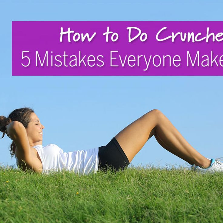 How to Do Crunches: 5 Mistakes Everyone Makes. Fix your form. Learn how to do crunches properly, and strengthen your core fast. - Fitnessmagazine.com