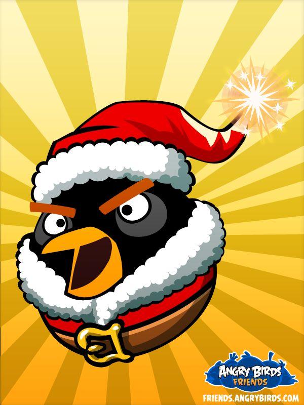 Santa Bomb Bird! | Angry Birds Friends | Pinterest | Angry ...