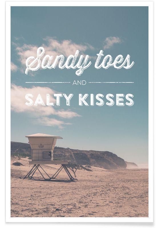 Sandy Toes and Salty Kisses als Premium Poster von Joe Mania   JUNIQE