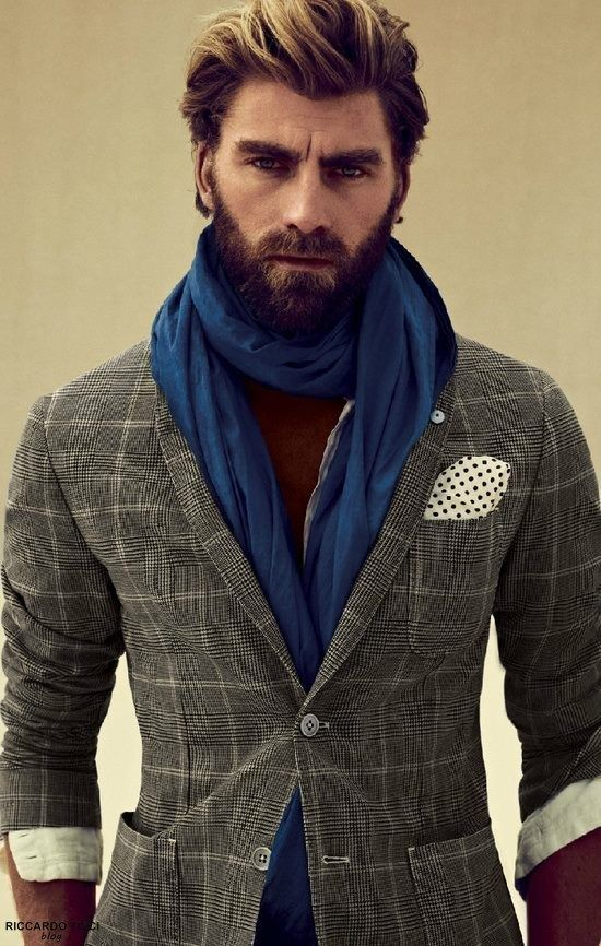The sun kissed colour in the cut just sets off the look and blends in the beard. Love love love