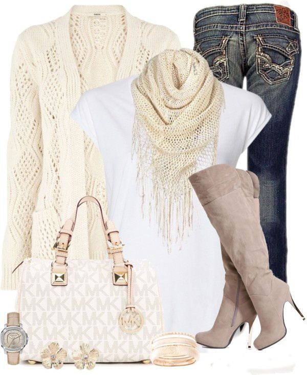 Casual Winter White Outfit ♥