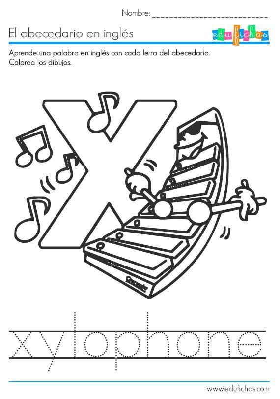 aprender la letra x | Ingles para niños | Pinterest | Teaching ...