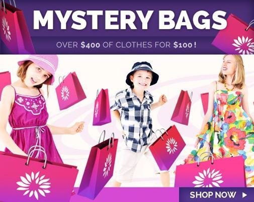 MYSTERY BAGS ARE BACK!  Ending Sunday, we're offering over $400 worth of Fair Trade clothing, sleepwear and accessories for only $100!  http://www.eternalcreation.com/pages/mystery-bags   Simply pick your size, and we'll send you a bag full of beautiful surprises. There's bags for Girls and Boys 0-1o years, plus stunning womens wear.    NOTE: Christmas delivery not guaranteed. Stock is very limited and the sale ends Sunday 21 December. Enjoy!