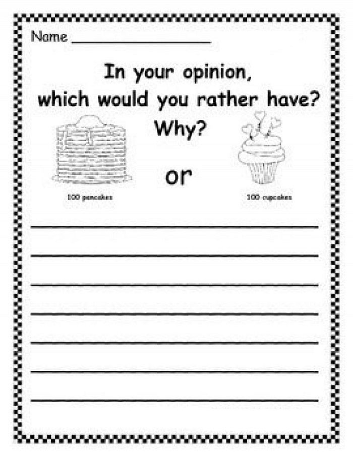 Fun First Grade Writing Worksheets To Print In 2020 Persuasive