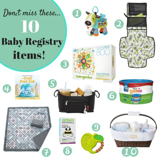 Must-have items for your baby registry via #BabyCenter