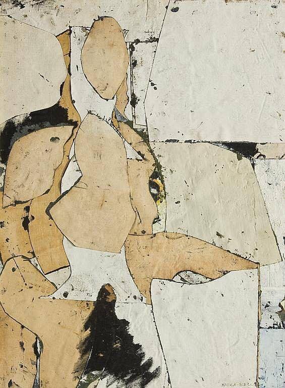 Conrad Marca-Relli (1913-2000) was een Amerikaanse kunstenaar die bij de nieuwe generatie kunstenaars behoorde van de New York School in de jaren 1950. New York School Abstract-Expressionisme, vertegenwoordigd door Jackson Pollock , Willem de Kooning , Franz Kline , Robert Motherwell , Marca-Relli en anderen werden toonaangevend van het naoorlogse tijdperk.
