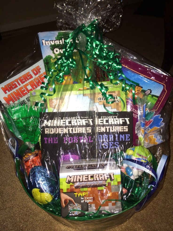 23 best easter basket ideas images on pinterest gift ideas minecraft easter basket negle Choice Image