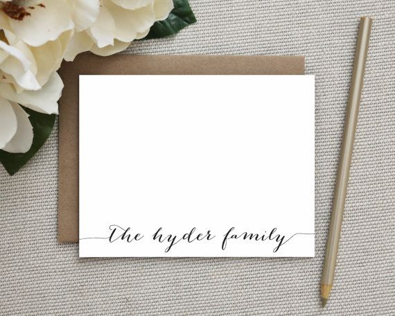 Personalized Stationery. Personalized Notecard Set. Personalized Stationary. Note Cards. Personalized. Stationery. Sets. Classic Script.