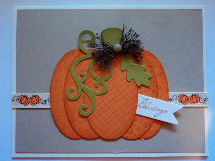 Layered Pumpkin Card by candee porter - Cards and Paper Crafts at Splitcoaststampers
