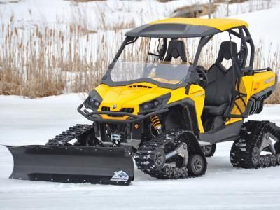 Next to a roof and a windshield, snow blades are one of the most popular accessories for UTVs and ATVs. It's a natural fit actually. An ATV or Side x Side can maneuver through tight areas much easier than a jeep, a pickup, or tractor, and unless you've got really deep snow, they do a great job of clearing the drive or walk. If you already own an ATV or Side x Side, it's a no-brainer to use it as a winter tool. .