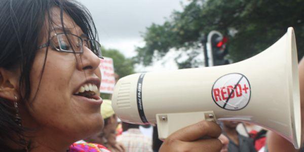 Las comunidades indígenas protestan en la calle para hacer oír su opinión sobre REDD+. Varias comunidades como la comunidad Bribri reprochan que no fueron consultados sobre REDD+. Eso representa una violación del convenio 169 de la OIT que garantiza la consultación y la aprobación de las comunidades indígenas por cualquier proyecto que quiera estar implementado en un territorio indígena.