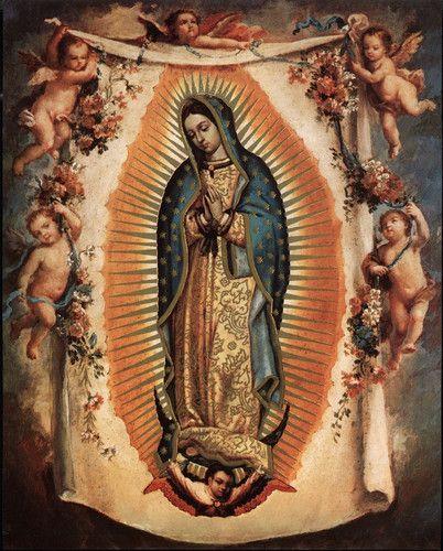 """8"""" x 10"""" Catholic Art Picture La virgen de Guadalupe"""