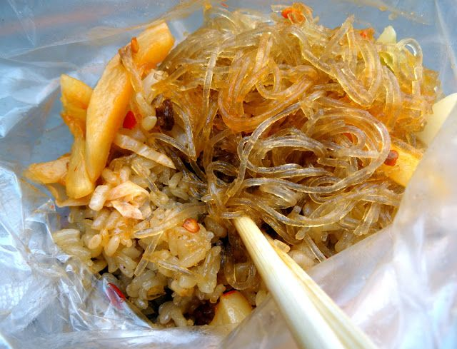 Taipei Street Food - Sticky Rice + Glass Noodles + Pickled Cabbage