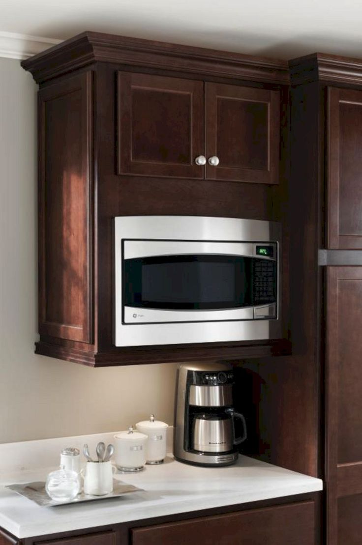 The 25 best Built in microwave cabinet ideas on Pinterest