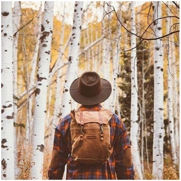 Leaves fall, temperatures fall, but spirits rise when Autumn arrives!  @brandonburkphotography   Fall fashion, flannel shirts, backpacks  Pendleton