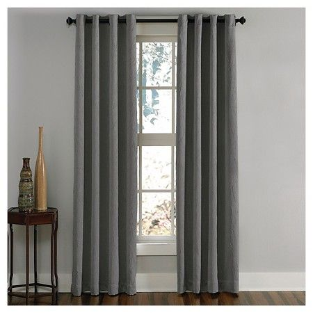 "Curtainworks Lenox Room Darkening Curtain Panel - Grey (108"") : Target"