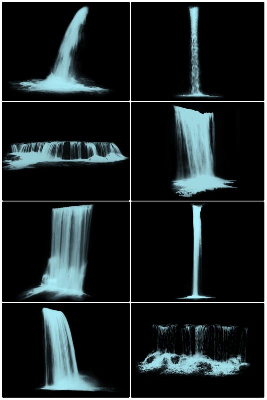 Waterfalls II by midnightstouch.deviantart.com on @deviantART
