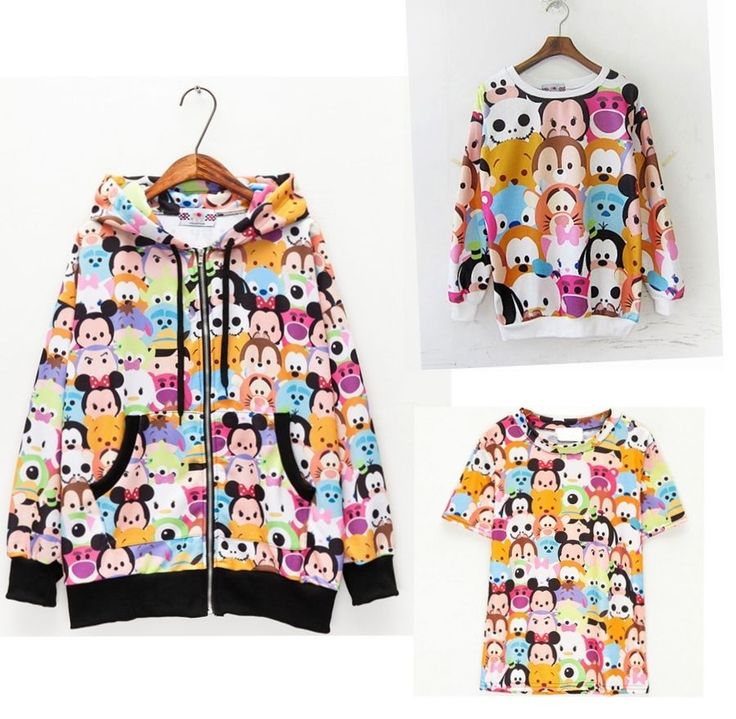 Cartoon Sweater Jacket Hoodies T shirt Tsum CHOCOOLATE Cute Costume Free ship  #Unbranded #SweatshirtCrew