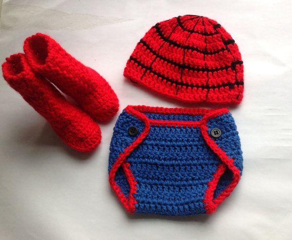 Handmade+Crochet+Spiderman+outfit+spiderman+inspiring+by+SueStitch,+$14.99