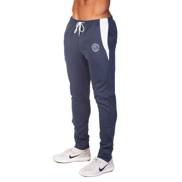 GymShark Luxe Fitted Bottoms Blue/White Mens bottoms | GymShark International | Innovation In Fitness Wear