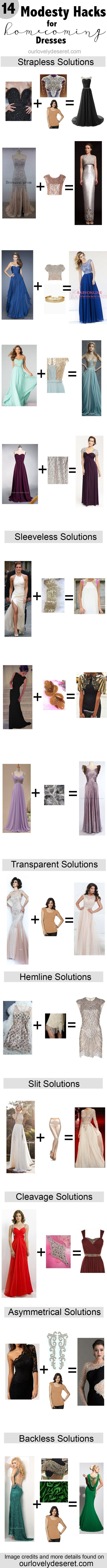 How to Alter Your homecoming dress to be modest! Gold mine! I love modesty hacks!